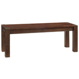 Modern Rustic Bench Medium, Rustic Tobacco