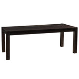 "Modern Rustic Dining Table 78"", Rustic Espresso"