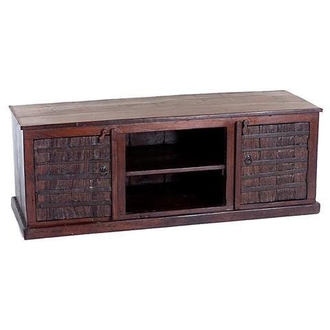 Distressed Wooden TV Stand