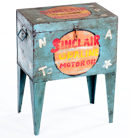 Postmaster Box End Table, Yellow Motor Oil