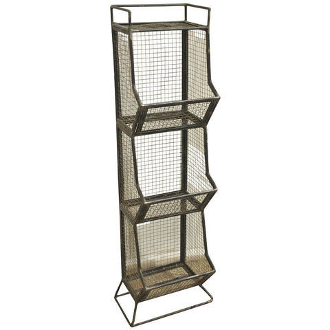 Janice Rossi Iron Basket Shelf