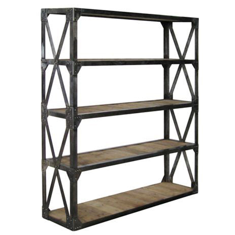 Cross Brace Bookcase