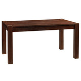 "Modern Rustic Dining Table 59"", Dark Mahogany"