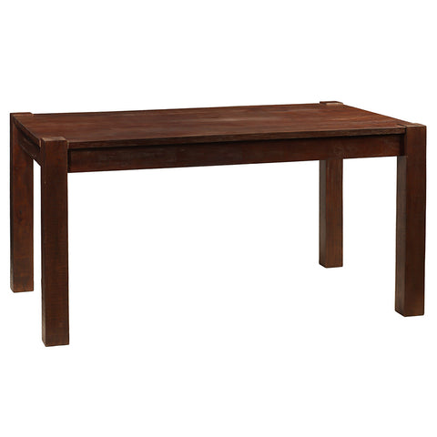 Modern Rustic Dining Table Medium, Dark Mahogany