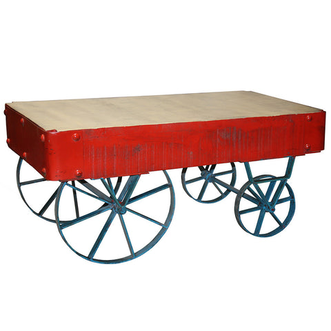 Factory Cart Coffee Table, Red