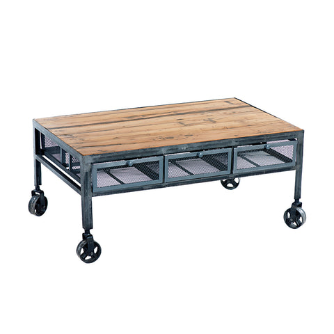 Kofi Industrial Coffee Table