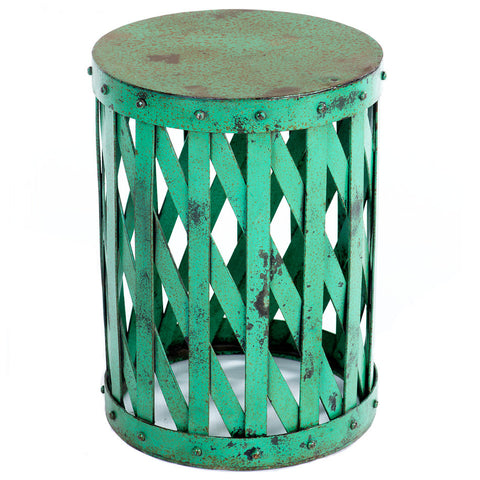 Mala Industrial Stool, Green