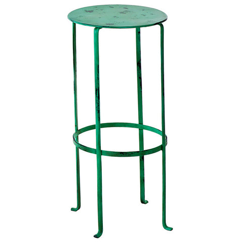 Entika Antiqued Metal Table Large, Green