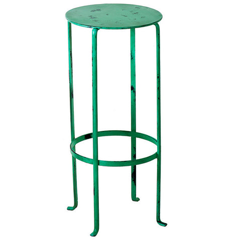 Entika Antiqued Metal Table Medium, Green