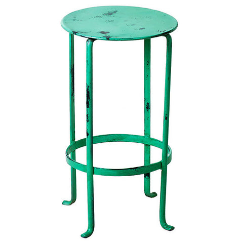 Entika Antiqued Metal Table Small, Green