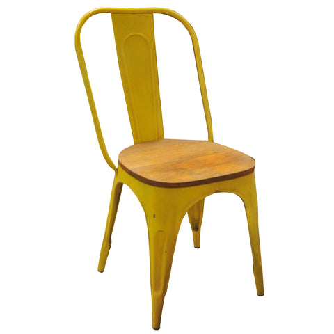 Parisian Industrial Chair, Yellow
