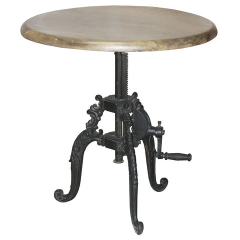 Staballoy Iron Crank Side Table