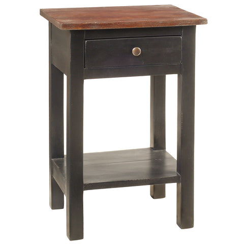 Tarakan End Table, Light Mahogany with Black