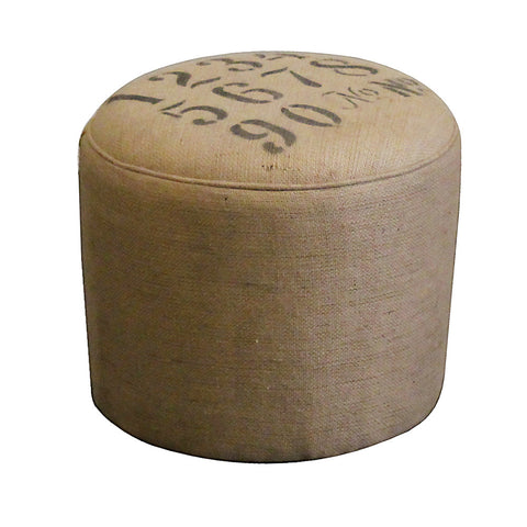 Counting Pouf Ottoman, Stenciled