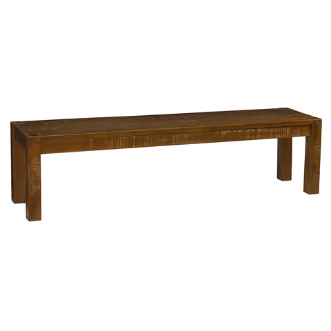 Modern Rustic Bench Large, Rustic Gray Wash