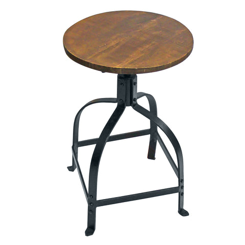 Spider Leg Iron Stool, Black