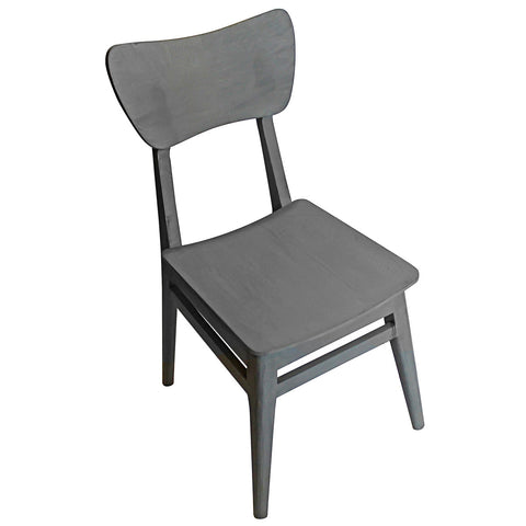 Mod Wood Chair, Grey Distress