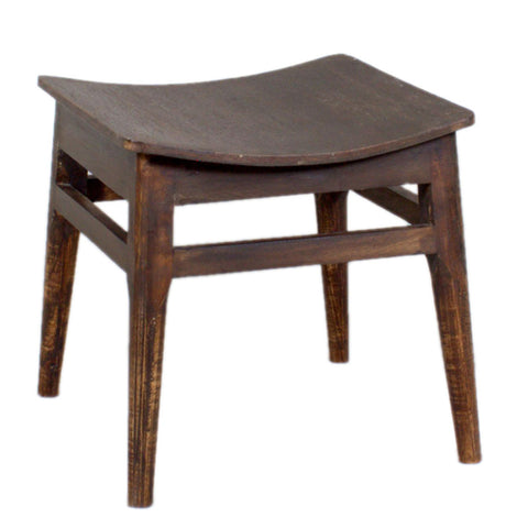 Mod Low Stool, Dark Antique
