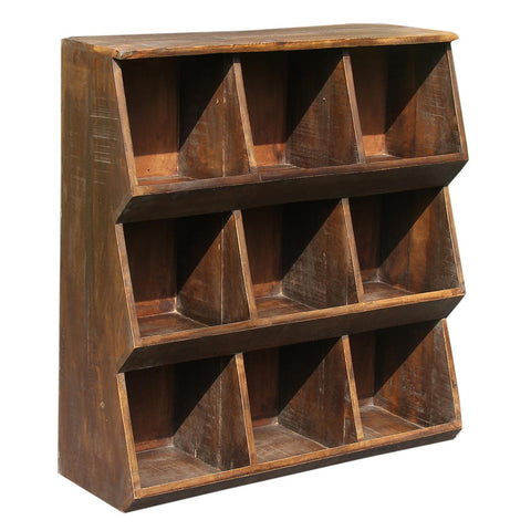 9 Compartment Rack, Dark Antique