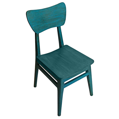 Mod Wood Chair, Blue Distress