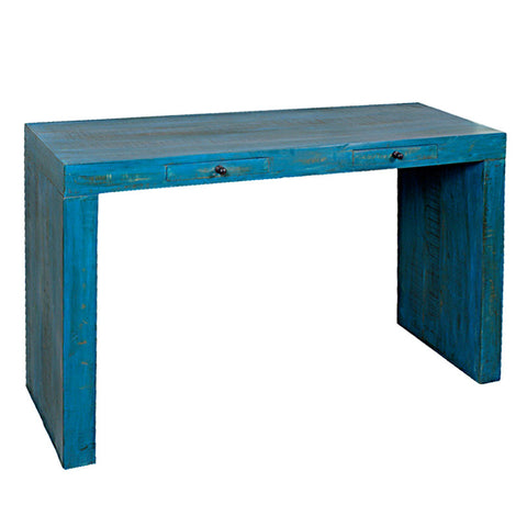 Bilbo Console, Antique Blue Distress