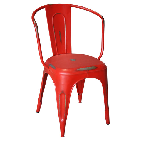 Marais Iron Chair, Red