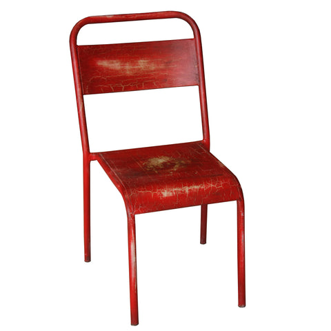 Solder Industrial Stackable Chair, Red