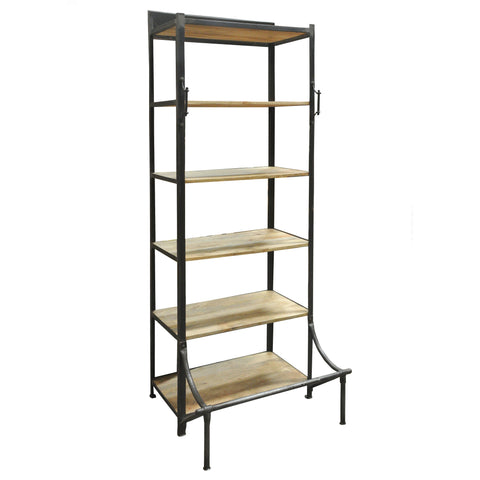 Conway Iron and Wood Bookshelf