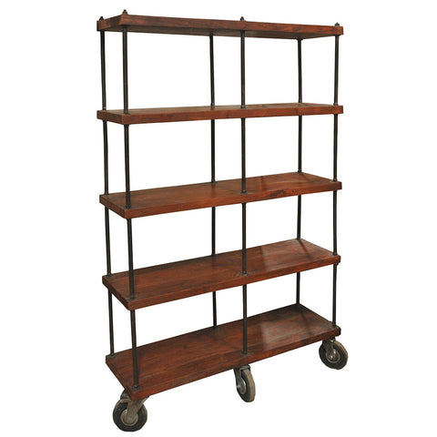 Calumet Industrial Wooden Bookshelf