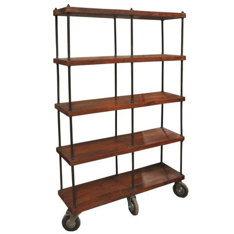 Callum Industrial Wooden Bookshelf