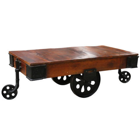 Deering Iron Wood Coffee Table