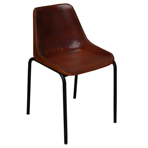 Bowman Iron Leather Chair