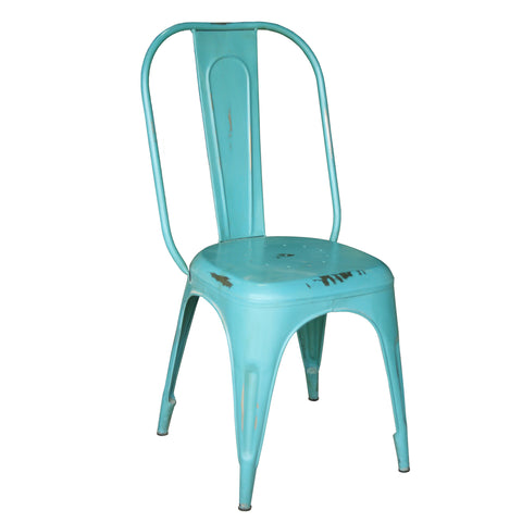 Iron Chair, Patina Blue