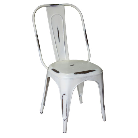 Iron Chair, Industrial White