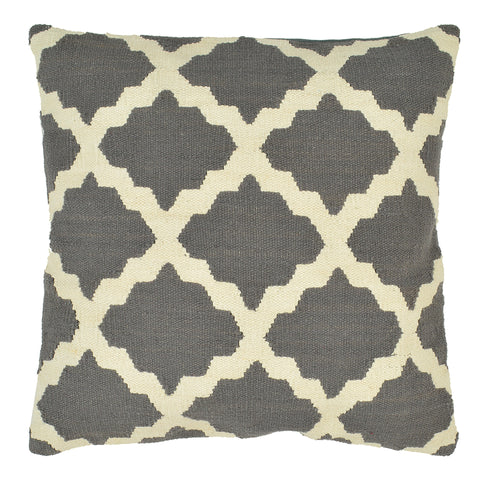 "Trellis 20"" x 20"" Pillow, Light Gray"