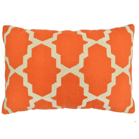 "Trellis 16"" x 24"" Pillow, Orange"