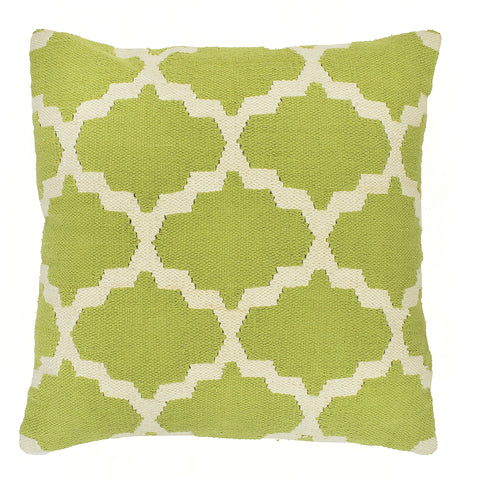 "Trellis 20"" x 20"" Pillow, Light Green"
