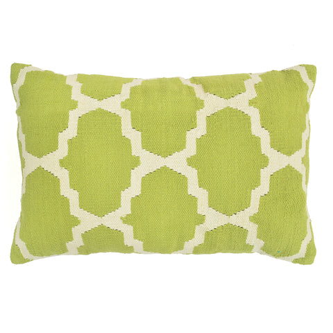 "Trellis 16"" x 24"" Pillow, Light Green"