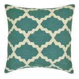 "Trellis 20"" x 20"" Pillow, Teal"