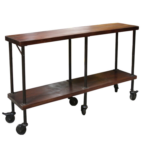 Budlong Iron Wooden Console Table