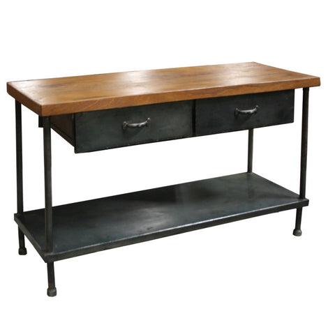 Bridgeport Iron Wooden Table