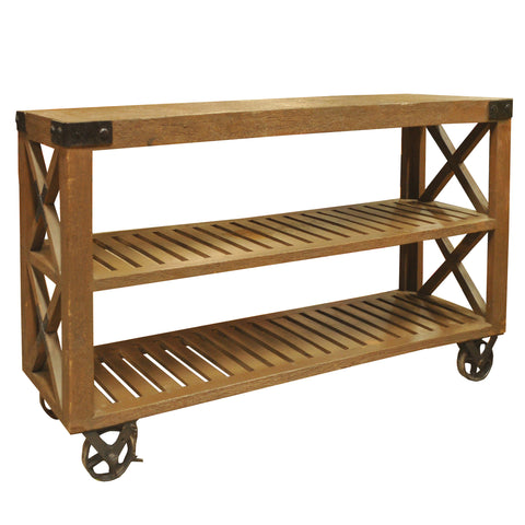 Wooden Work Trolley
