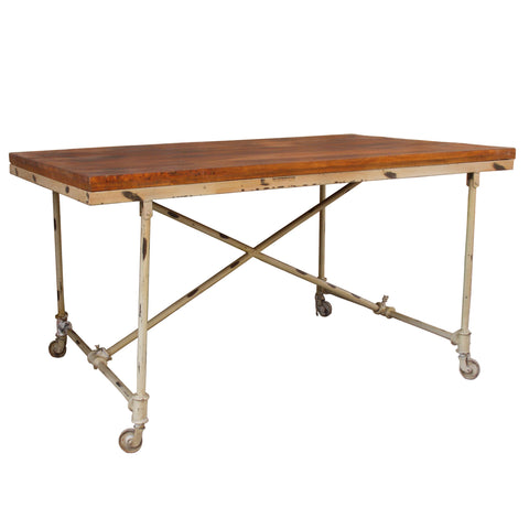 Nelson Iron Wooden Kitchen Table
