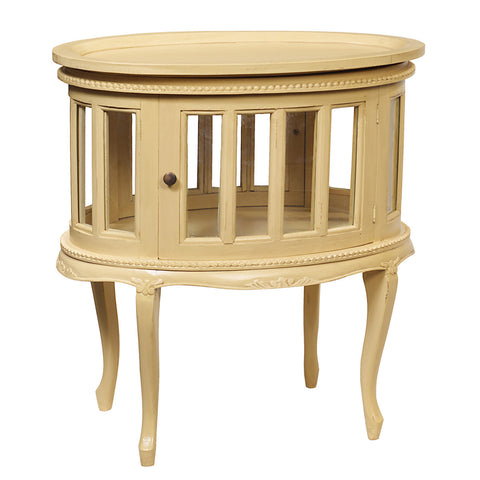 Medan Tea Table, Butter Yellow
