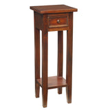 Sumatra Pedestal Table, Light Mahogany