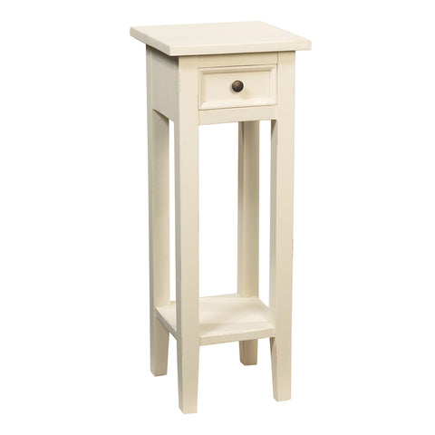 Sumatra Pedestal Table, Snow White