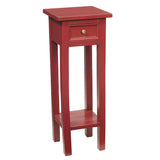 Sumatra Pedestal Table, Ruby Red