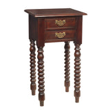 Batam Accent Table, Light Mahogany