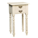 Batam Accent Table, Cloud White