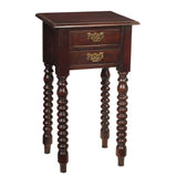Batam Accent Table, Dark Mahogany